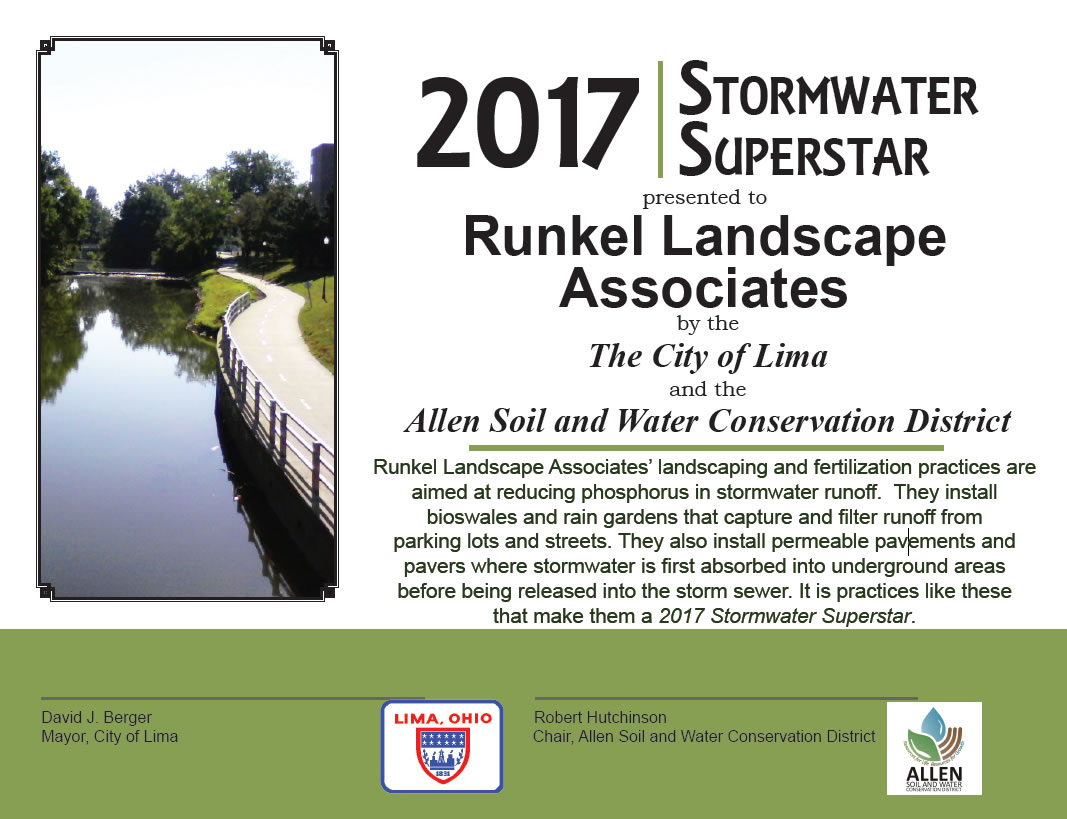 2017 Stormwater Superstar Award - City of Lima