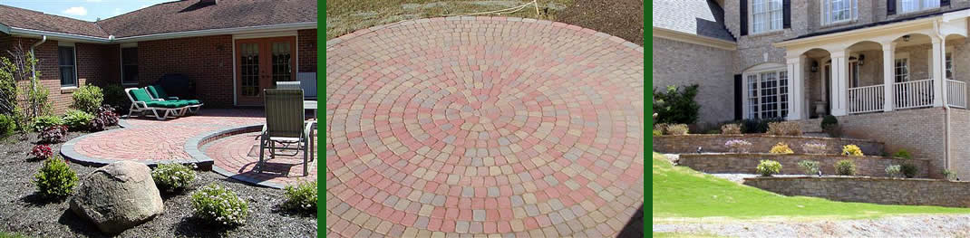 hardscaping interlocking pavers retaining walls