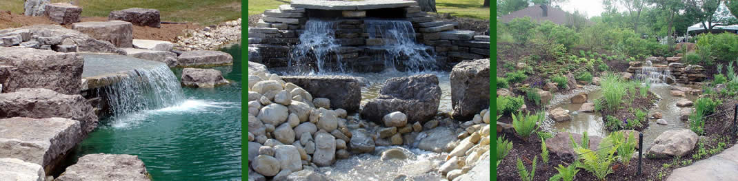 water features ponds waterfalls